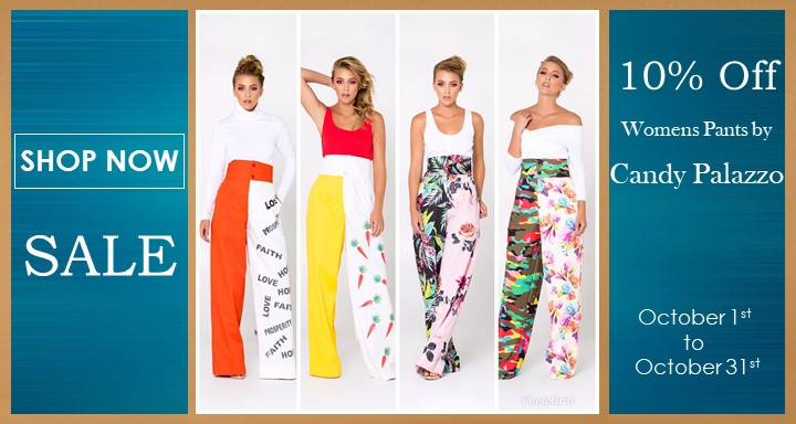 10% Off Candy Palazzo - October